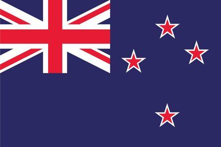 nowy: Ilustracja z flagą Nowej Zelandii Zdjęcie Seryjne