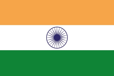 frontview: An illustration of the flag of India