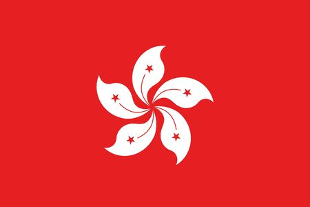 hong kong: An illustration of the flag of Hong Kong Stock Photo