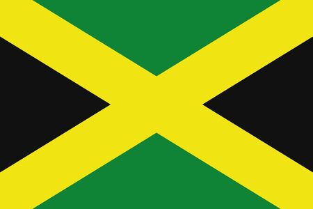 frontview: An illustration of the flag of Jamaica