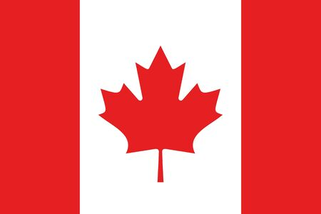 canadian flag: An illustration of the flag of Canada Stock Photo