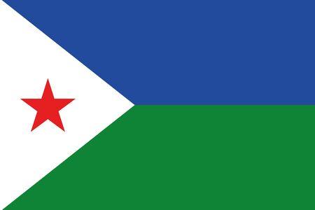 djibouti: An illustration of the flag of Djibouti Stock Photo