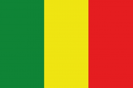 An illustration of the flag of Mali Stock Photo