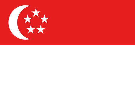 An illustration of the flag of Singapore