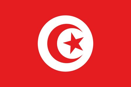 frontview: An illustration of the flag of Tunisia