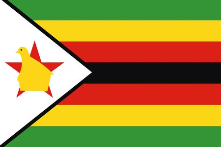 frontview: An illustration of the flag of Zimbabwe