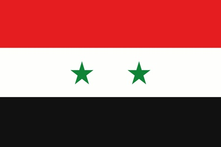 frontview: An illustration of the flag of Syria