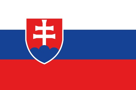 frontview: An illustration of the flag of Slovakia
