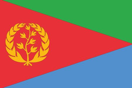 eritrea: An Illustrated Drawing of the flag of Eritrea