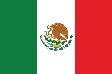 flag of mexico: An Illustrated Drawing of the flag of Mexico