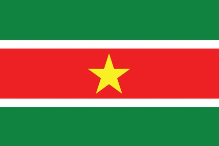 suriname: Een Geïllustreerde Tekening van de vlag van Suriname Stockfoto