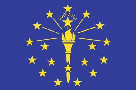 The Flag of the American State of Indiana