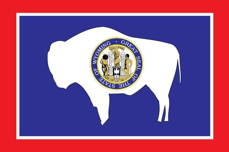 The Flag of the American State of Wyoming