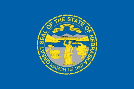 The Flag of the American State of Nebraska photo