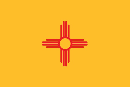 flag mexico: The Flag of the American State of New Mexico