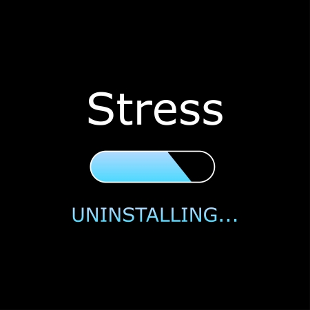Uninstalling Stress Illustration Stock Vector - 21198828