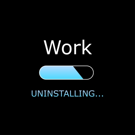 Uninstalling Work Illustration 向量圖像