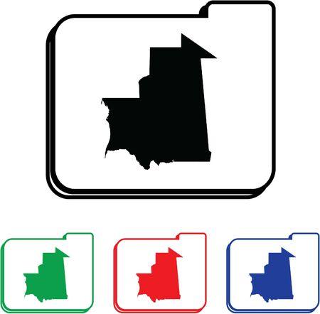 mauritania: Mauritania Icon Illustration with Four Color Variations Stock Photo