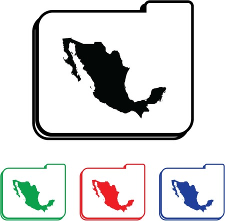 Mexico Icon Illustration with Four Color Variations illustration