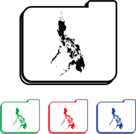 Philippines Icon Illustration with Four Color Variations illustration