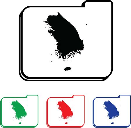 South Korea Icon Illustration with Four Color Variations illustration