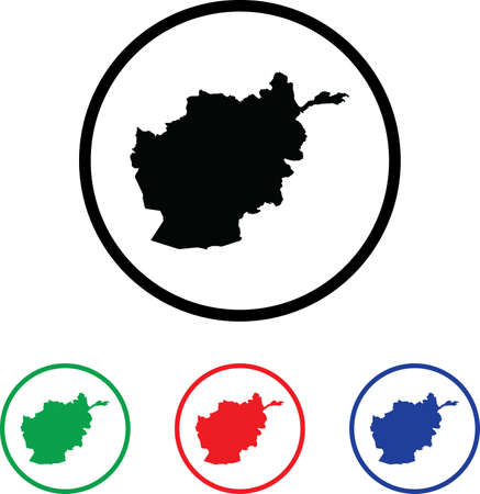 Afghanistan Icon Illustration with Four Color Variations illustration