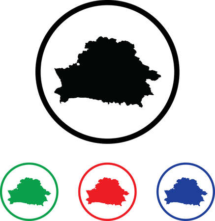 Belarus Icon Illustration with Four Color Variations illustration