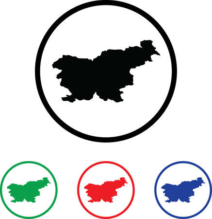 Slovenia Icon Illustration with Four Color Variations illustration