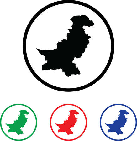 Pakistan Icon Illustration with Four Color Variations illustration