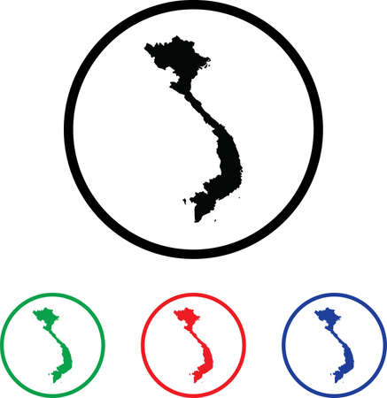 Vietnam Icon Illustration with Four Color Variations illustration