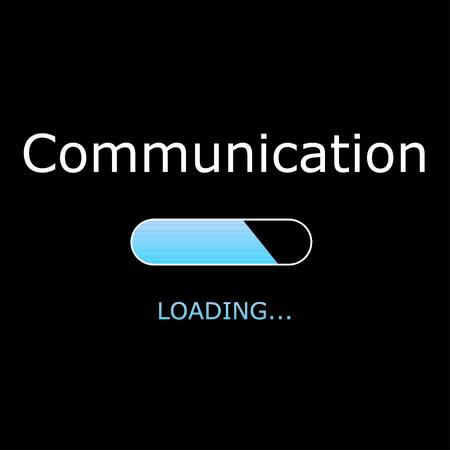 txt: Illustration - Loading Communication Stock Photo