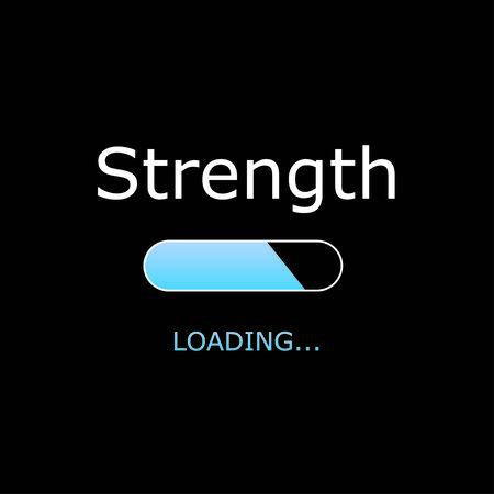 positiveness: Illustration - Loading Strength Stock Photo
