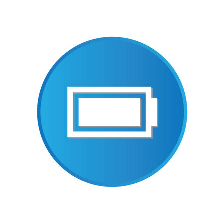 Colorful square buttons for website or app - Battery photo