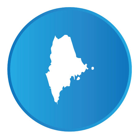 maine: 3D Button with the shape of American State - Maine Stock Photo