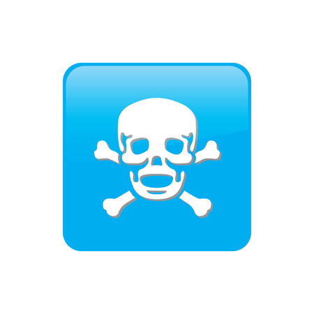 Colorful square buttons for website or app - Skull and Cross Bones photo