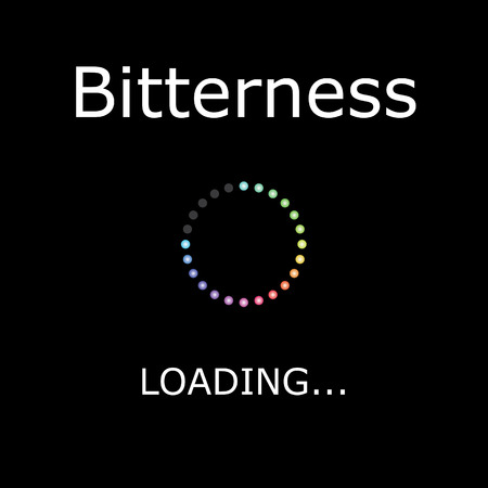 bitterness: A LOADING Illustration with Black Background - Bitterness