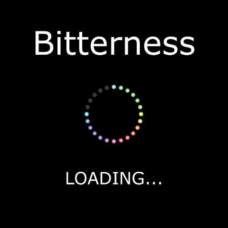 bitterness: A LOADING Illustration with Black Background - Bitterness