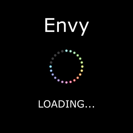 positiveness: A LOADING Illustration with Black Background - Envy Stock Photo