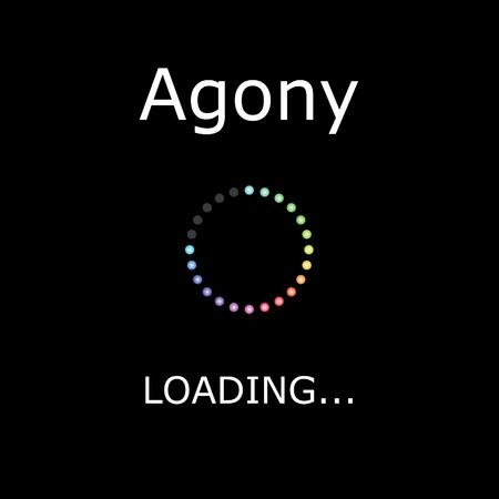 agony: A LOADING Illustration with Black Background - Agony