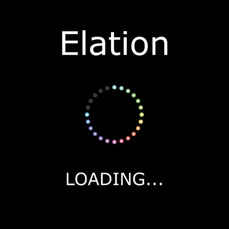 elation: A LOADING Illustration with Black Background - Elation Stock Photo