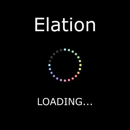 elation: A LOADING Illustration with Black Background - Elation Stock Photo