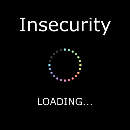 insecurity: A LOADING Illustration with Black Background - Insecurity