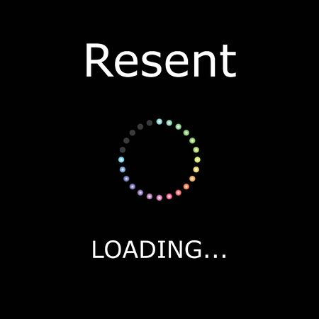 resent: A LOADING Illustration with Black Background - Resent