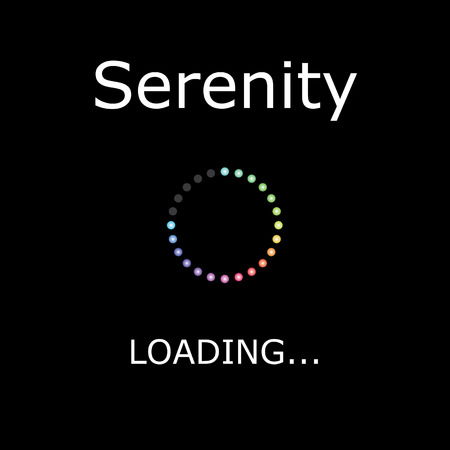 serenity: A LOADING Illustration with Black Background - Serenity