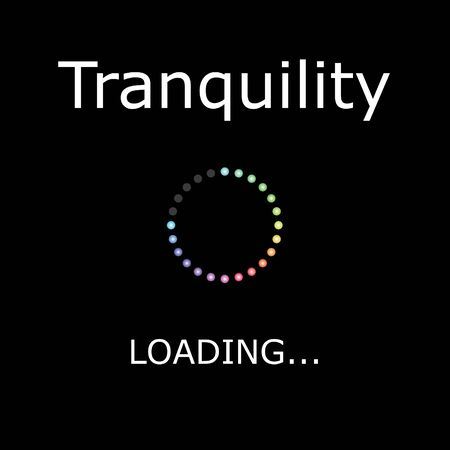 tranquility: A LOADING Illustration with Black Background - Tranquility