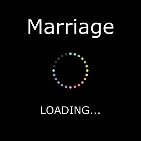 positiveness: A LOADING Illustration with Black Background - Marriage