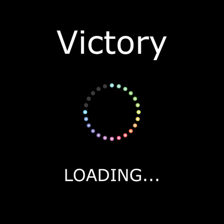 positiveness: A LOADING Illustration with Black Background - Victory Stock Photo
