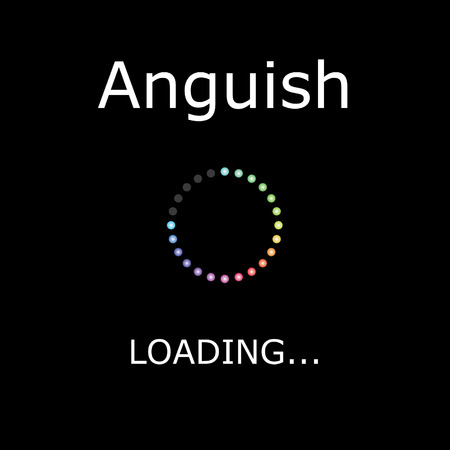 positiveness: A LOADING Illustration with Black Background - Anguish