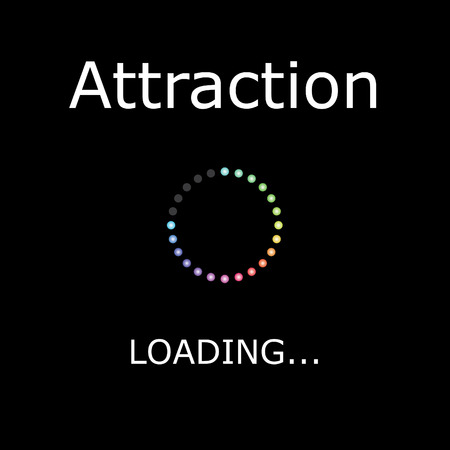 positiveness: A LOADING Illustration with Black Background - Attraction