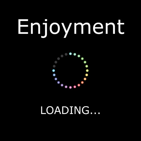 picture card: A LOADING Illustration with Black Background - Enjoyment